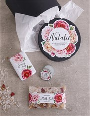 Personalised Peony Bath Gift Box