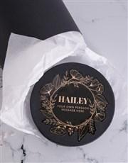 Personalised Gold Wreath Bath Gift Box