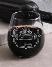 Personalised Perfectly Aged Wine Glass