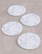 Personalised Marble Monogram Coasters