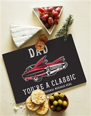 Personalised Classic Dad Glass Chopping Board
