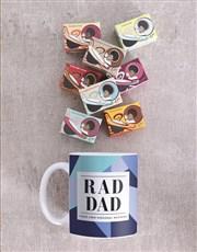 Personalised Blue Rad Dad Mug