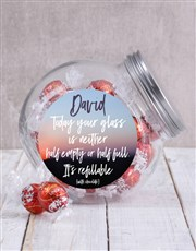 Spoil someone special with this clear candy jar wi