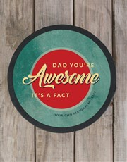 Personalised Awesome Dad Chocolate Hat Box