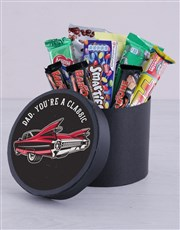Personalised Classic Dad Chocolate Hat Box