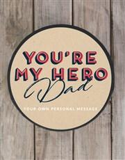 Personalised My Hero Chocolate Hat Box
