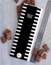 Personalised Striped Chocolate Slab