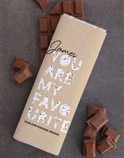 Personalised Favourite Chocolate Slab