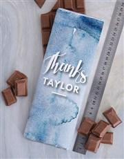 Personalised Thank You Chocolate Slab