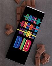 Personalised Neon Chocolate Slab