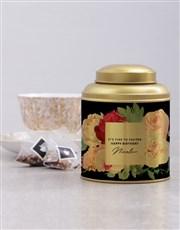 Personalised Partea Time Tea Tin