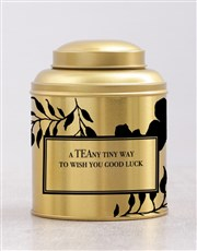 Personalised Good Luck Tea Tin
