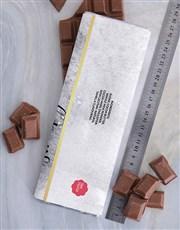 Personalised Congrats Chocolate Slab