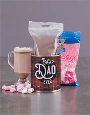Personalised Best Dad Hot Chocolate Tin