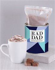 Personalised Rad Dad Hot Chocolate Tin