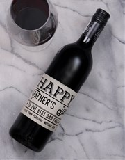 Personalised Best Dad Ever Wine