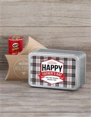 Personalised Vintage Dad Snack Tin
