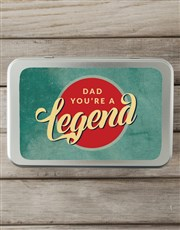 Personalised Legendary Dad Snack Tin