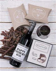 Personalised Monochrome Father Gourmet Hamper