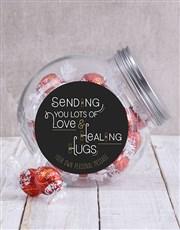 Personalised Healing Hugs Candy Jar