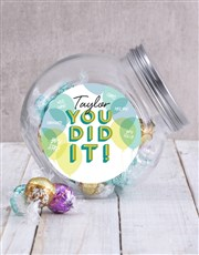 Personalised You Did It Candy Jar