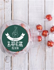 Personalised Good Luck Candy Jar