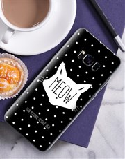 Personalised Meow Samsung Cover