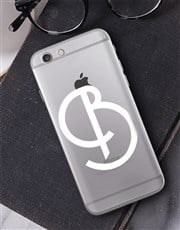 Personalised Deco Initial iPhone Cover