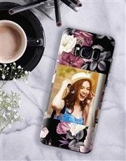 Personalised Floral Photo Samsung Cover