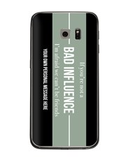 Personalised Bad Influence Samsung Cover
