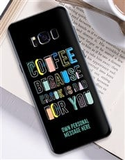 Personalised Coffee Samsung Cover
