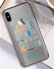 Personalised Coffee iPhone Cover