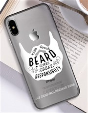 Personalised Beard iPhone Cover