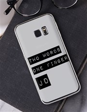Personalised Two Words Samsung Cover