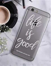 Personalised Good Life iPhone Cover