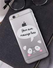 Personalised Panda iPhone Cover