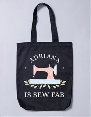 Personalised Sew Fab Tote Bag