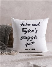 Personalised Snuggle Spot Scatter Cushion