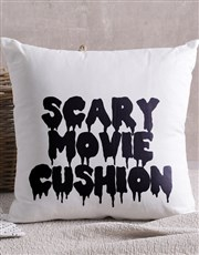 Personalised Scary Movie Scatter Cushion