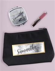Personalised Tonal Watercolour Cosmetic Bag