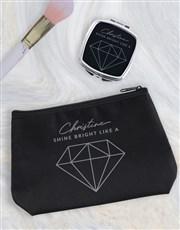 Personalised Shine Bright Cosmetic Bag