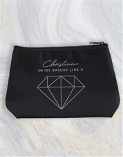 Personalised Shine Bright Cosmetic Bag