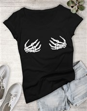 Skeleton Hands Shirt for Ladies