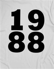 Personalised 1988 Shirt for Men