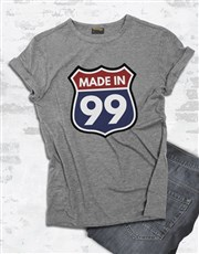 Personalised Made in 99 Shirt for Men