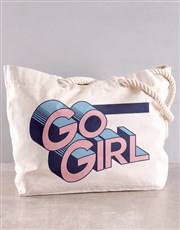 Personalised Go Girl Beach Bag
