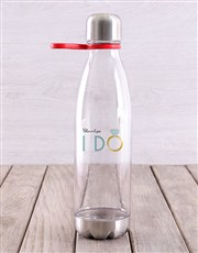 Personalised I Do Water Bottle