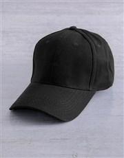 Personalised Black Lily Initial Peak Cap