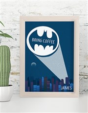 Personalised Bring Coffee Poster