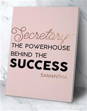 Personalised Secretary Success Poster